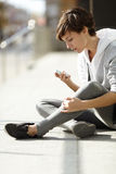 Girl with cell-phone Royalty Free Stock Photo