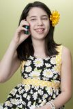 Girl on Cell Phone Royalty Free Stock Image