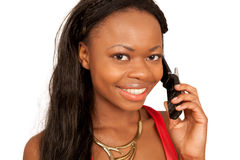 Girl on cell phone Royalty Free Stock Photo