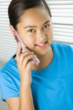 Girl on cell phone. stock image