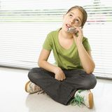 Girl on cell phone. Royalty Free Stock Photo