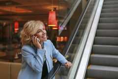 Girl on cell phone chatting. Stock Photos