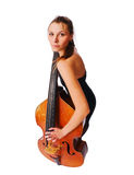Girl with cello Royalty Free Stock Photos