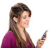 Girl with a cellphone Royalty Free Stock Photo