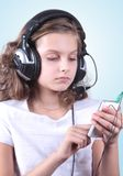 Girl with cellphone Royalty Free Stock Photo