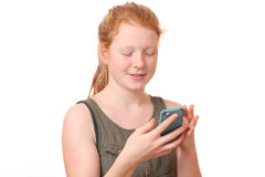 Girl with cellphone Royalty Free Stock Photos