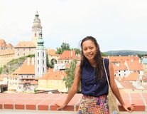 Girl in Cesky Krumlov Stock Photos
