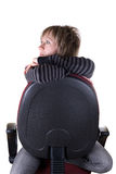 Girl at chair Stock Photo