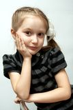 Girl on a chair Royalty Free Stock Photo