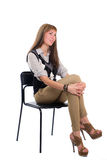 Girl in a chair Stock Photo
