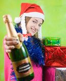 Girl with champagne Stock Photography