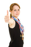 Girl champion Royalty Free Stock Images