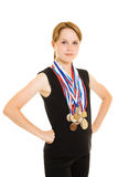 Girl champion Royalty Free Stock Photography