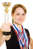 Girl champion Stock Images