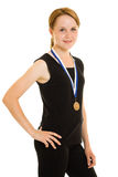 Girl champion Royalty Free Stock Photo
