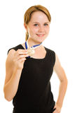 Girl champion Royalty Free Stock Image