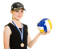 Girl Champion Stock Photo