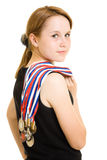 Girl Champion Royalty Free Stock Photo