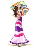 Girl charachter 2 Stock Image