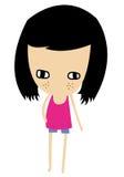 Girl character Royalty Free Stock Photos