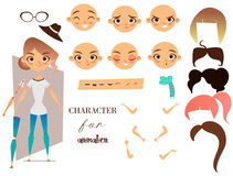 Girl character for your scenes and animation Royalty Free Stock Image