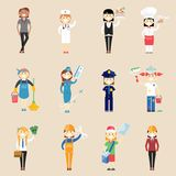 Girl characters in professional clothing Royalty Free Stock Photo