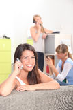 Girl chatting on the phone Stock Photography