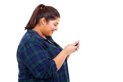 Girl chatting phone Royalty Free Stock Image