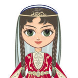The girl in the Chechen suit. Historical clothes .Portrait, avatar Stock Photos