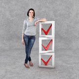 Girl with a check list Stock Images