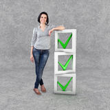 Girl with a check list Stock Image
