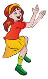 Girl Cheering, illustration Royalty Free Stock Photography