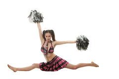 Girl cheerleader Stock Images