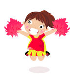 Girl Cheerleader Stock Image