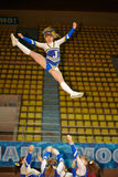 Girl from cheerleaders team Jam performs Stock Photo