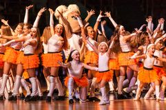 Girl Cheerleading Stock Image