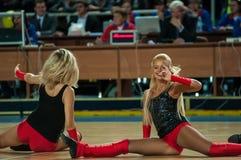 Girl Cheerleading Stock Photo