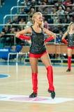 Girl cheerleading Stock Images
