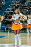 Girl cheerleading Royalty Free Stock Photos