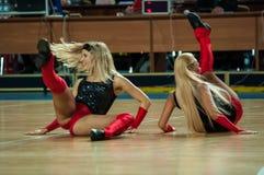 Girl cheerleading Stock Photos