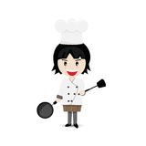 Girl Chef Cartoon Character Vector Design Royalty Free Stock Photo