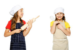 Girl chef cook Stock Images