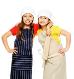 Girl chef cook Stock Image