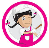 Girl chef Stock Images