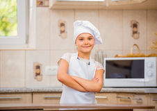 Girl chef Stock Photo