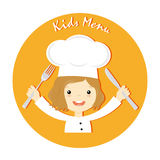 Girl chef Stock Photography