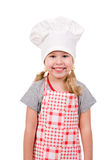 Girl in chef's hat Stock Photos