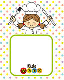 Girl chef. Space for text or photo royalty free illustration