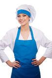 Girl in chef uniforms Stock Photos