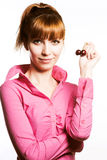 Girl with cherry Stock Image
